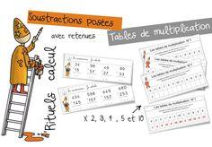 Rituels Maths Calcul Numération Mesure CE1   Bout de Gomme Multiplication Posée, Cycle 3, Parenting, Education, Learning, School, Voici, Man, Tables