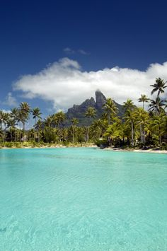 Laggon and Mountain View from the St Regis Bora Bora Resort