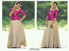Lehenga Skirt, Anarkali Dress, Pavadai Sattai, Long Skirt And Top, Kerala Saree, Lehenga Designs, Half Saree, Skirt Outfits, Designer Dresses