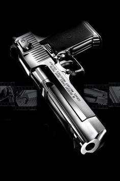 .50 Cal Desert Eagle: my favorite gun. I'd buy and learn to shoot this, a high powered assault rifle and a shotgun.