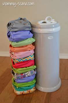 Ubbi Diaper Pail for cloth diapering - Mommy Scene review