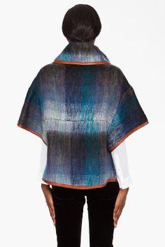 SUNO //    Mohair Cape Coat