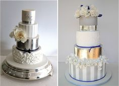 Metallic Wedding Cakes - Part 2 - Belle the Magazine . The Wedding Blog For The Sophisticated Bride # wedding #cake