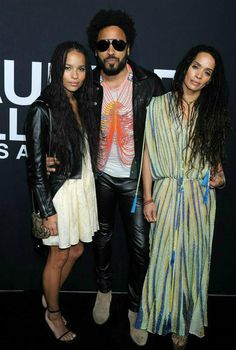 Lenny Kravitz turns 52 on May 26, 2016, and he has a loving family to help him celebrate. Wonderwall.com is sharing the top 10 reasons we can't get enough of the rocker and his modern family... starting with this moment: On Feb. 10, 2016, Lenny posed with his ex-wife Lisa Bonet and their daughter Zoe Kravitz as one happy unit at a Saint Laurent fashion show in Los Angeles. They may be divorced, but Lenny's still always up for a good family photo