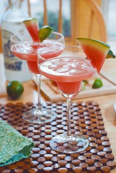How to Watermelon Margaritas