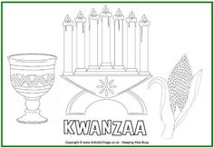 Free Kwanzaa Kinara Card Pattern Patterns For Cards
