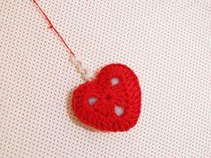 Chaveiro: coração de crochê - Blog Dona Engenhosa