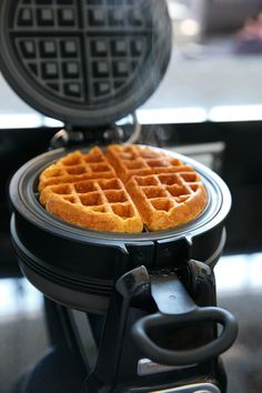 Savory Cornmeal Waffles from @Lindsay Landis | Love and Olive Oil