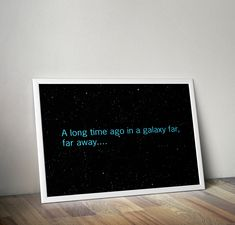 A Long Time Ago... Famous Star Wars Opening titles Boys Geek man cave nerds bedroom office kids by ShamanAlternative on Etsy