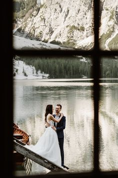 Lago di Braies and the Tre Cime in the Dolomites Elopement