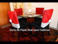 Capa para encosto Gorro Papai noel ENFEITES DE NATAL - YouTube