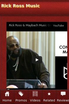 <b>Rick Ross Music</b><br>The unofficial Rick Ross Music app.<p><b>Rick Ross Music</b><br>• French Montana (Diddy, Rick Ross, Lil Durk, Chinx & Jadakiss) - Paranoid Remix (Official Video)<br>• Wale - Ambition feat. Meek Mill & Rick Ross (Official Video)<br>• Masterminds - Rick Ross x Justice League Type Beat 2013 MMG/Cigar Music<br>• *NEW*Future/Rick Ross/Lil Wayne/French Montana Type Beat[Prod By.@iDBeatz x J.Music]<br>• Rick Ross & Maybach Music Group 2012 Press Conference from May 2…