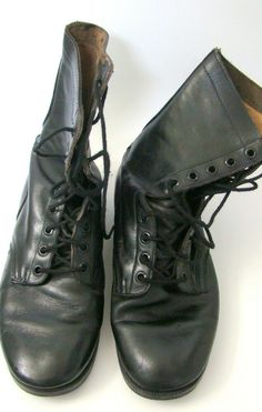 0f0f1e055ec1 Vintage USMC Rosearch Black Combat Boots 10.5 Wide 1970 Issue Chevron  Pattern #Rosearch #CombatBoots