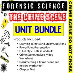 This bundle includes all products from my Forensic Science Crime Scene Unit:•Learning Targets and Study Questions•PowerPoint Presentation•Fill-in Style Notes Handouts •Crime Scene Analysis Video Worksheet•Documenting a Crime Scene Lab•Review Worksheet •Chapter Test*Vocabulary Assignment sold separat... Science Vocabulary, Science Resources, Chain Of Custody, Innocence Project, Learning Targets, Forensic Science, Forensics, Lab, Crime