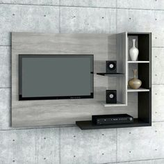 Backdrop Tv, Wall Mounted Tv, Tv Unit, Tvs, Home Office, Cabinets, Shelf, Apartments Decorating, Tv Unit Furniture