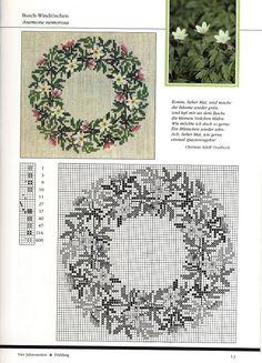 Gerda Bengtsson Cross Stitch Tree, Cross Stitch Alphabet, Cross Stitch Flowers, Cross Stitch Charts, Cross Stitch Patterns, Blackwork Embroidery, Cross Stitch Embroidery, Hand Embroidery, Christmas Cross