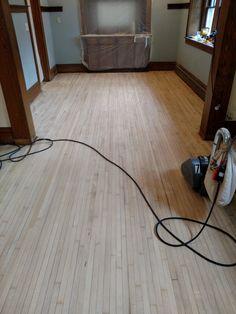 Floor Refinish - Maple Floor in my 1911 house (#QuickCrafter)