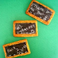 Edible Chalkboard Cookies