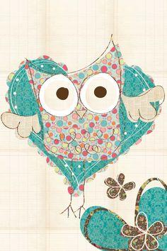 cute owl (artist unknown)