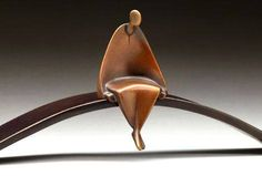 Meditation - Bronze sculpture by American artist Carol Gold