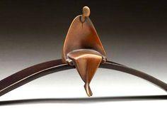 Meditation - Bronze sculpture by American artist Carol Gold