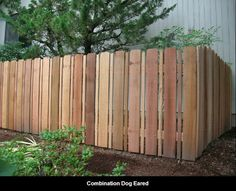 Combination Dog Ear Fence.  Seems appropriate to hold in two big dogs!