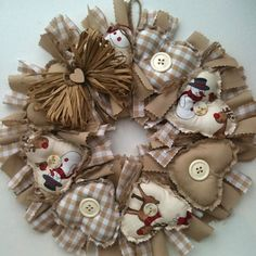 Precious Parcels - The Blog!: Handmade Fabric Wreaths