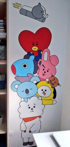What is Your Painting Style? How do you find your own painting style? What is your painting style? Kpop Drawings, Art Drawings Sketches Simple, Wall Painting Decor, Cartoon Wall, Cartoon Painting, Wall Drawing, Diy Canvas Art, Bts Wallpaper, Doodles