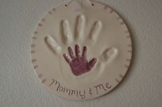 Generations Handprint - can be made with salt dough - 2 cups flour, 1 cup salt, cold water.  Mix until consistency of play dough.  Bake at 250 degrees for 2 hours.  Cool, then paint.  Don't forget to punch holes in the top to run your hanging ribbon through.