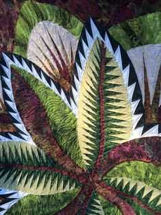Fire Island Hosta, Quiltworx.com, Made by Sara Johnson, Quilted by The Quilting Place