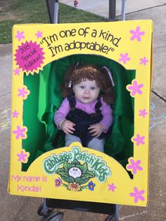 DIY cabbage patch doll costume we made for baby's first Halloween!