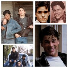 Dallas Winston and Johnny Cade in the Outsiders. The two best looking :)