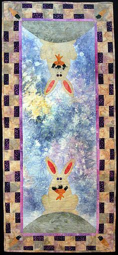 "Once Upon a Bunny Hill table runner pattern, 21 x 45"", at Kaye Wood craft quilt, tabl runner, quilt patterns, runner pattern, hill quilt, hill tabl, table runners, bunni hill, rabbit tabl"