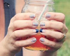 Nautical and Navy Tip Jamberry Nail Wraps. Our wraps come in 300+ designs, prints & colors, AND we've got French Tips that come in 3 different sizes so they fit ANY nails. Jamberrys can be worn on natural or acrylic nails & are non-toxic, so they won't damage the nail bed or cuticle-your nails can GROW while you wear them! Buy 3 sheets, Get 1 FREE! To shop, go to www.taraeman.jamberrynails.net