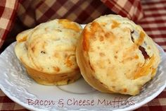 Mommy's Kitchen: Bacon & Cheese Muffins & {More Back to School Breakfast Ideas}