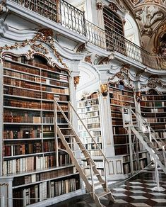 I'm standing in a castle's library — // Stift Admont Library, Austria // Notic. - I'm standing in a castle's library — // Stift Admont Library, Austria // Notice the… - Library Room, Dream Library, Library In Home, Grand Library, Beautiful Library, Home Libraries, Book Nooks, My Dream Home, Future House