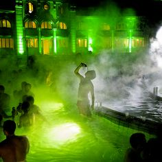 Budapest's bath parties are the wildest water bashes in the world ~ http://thrl.st/1j7xftr  via @Thrillist #Spa in Hungary!