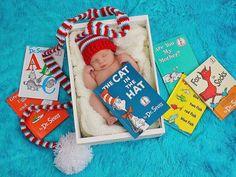 Dr. Seuss inspired newborn photo