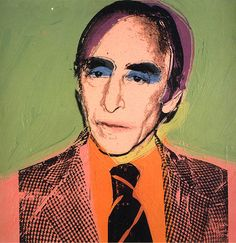 Leo Castelli by Andy Warhol (1975)  Castelli was a legendary NYC art dealer who launched the careers of Warhol, Lichtenstein & other Pop artists.