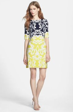 Eliza J Print Jersey Shift Dress (Regular & Petite) available at #Nordstrom - I'd like this please