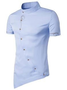 Men's Floral Shirt Basic Long Sleeve Daily Slim Tops Standing Collar White Black Wine / Spring / Work 2021 - Can $34.14 Cheap Mens Shirts, Mens Shirts Online, Stylish Shirts, Black Comforter Sets, African Wear Styles For Men, Button Down Collar, Summer Shirts, Chinoiserie, Colorful Shirts