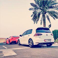 #MK7R with a beautiful #Ferrari! #VW365