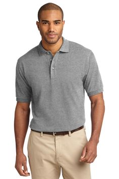 Port Authority Pique Knit Polo.K420 Oxford