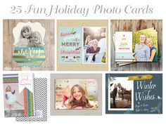 25 Fun Holiday Photo Card Ideas #holiday #photo #cards #christmas
