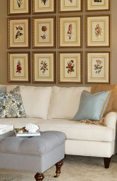 {www.briahammelinteriors.com} Blue, white, and gold traditional living room