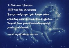Astrology – Mystical Empress – Psychic, Life Coach, Astrologer and Feng Shui Expert Zodiac Horoscope, Loyalty, Life Is Beautiful, Mystic, Leo, Passion, Feelings, Life Is Good, Lion