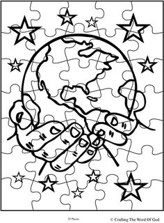 God The Creator Puzzle (Activity Sheet) Activity sheets are a great way to end a Sunday School lesson. They can serve as a great take home activity. Or sometimes you just need to fill in those last. Creation Coloring Pages, Bible Coloring Pages, Animal Coloring Pages, Sunday School Lessons, Sunday School Crafts, Creation Bible Crafts, Planet Crafts, Apostles Creed, Bible Activities