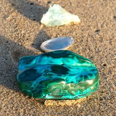 Chrysocolla Malachite Crystal. Throat chakra.