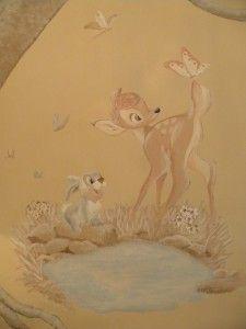 "Muurschildering ""Bambi"" - bam-crea"