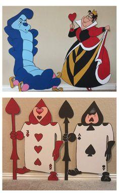 Alice au pays des merveilles Queen of Hearts Metal Signe moyenne//grande taille disponible